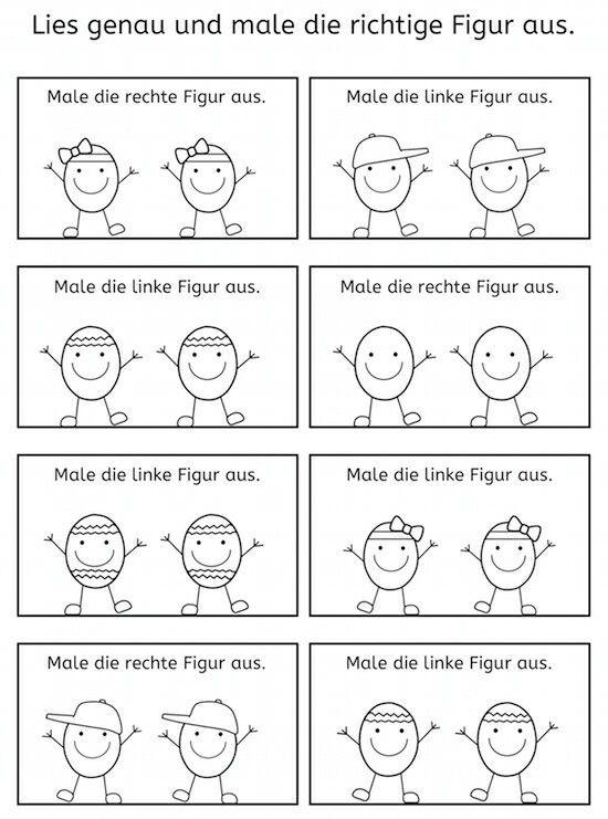 rechts - links | Kindergarten | Pinterest | Kindergarten, Deutsch ...