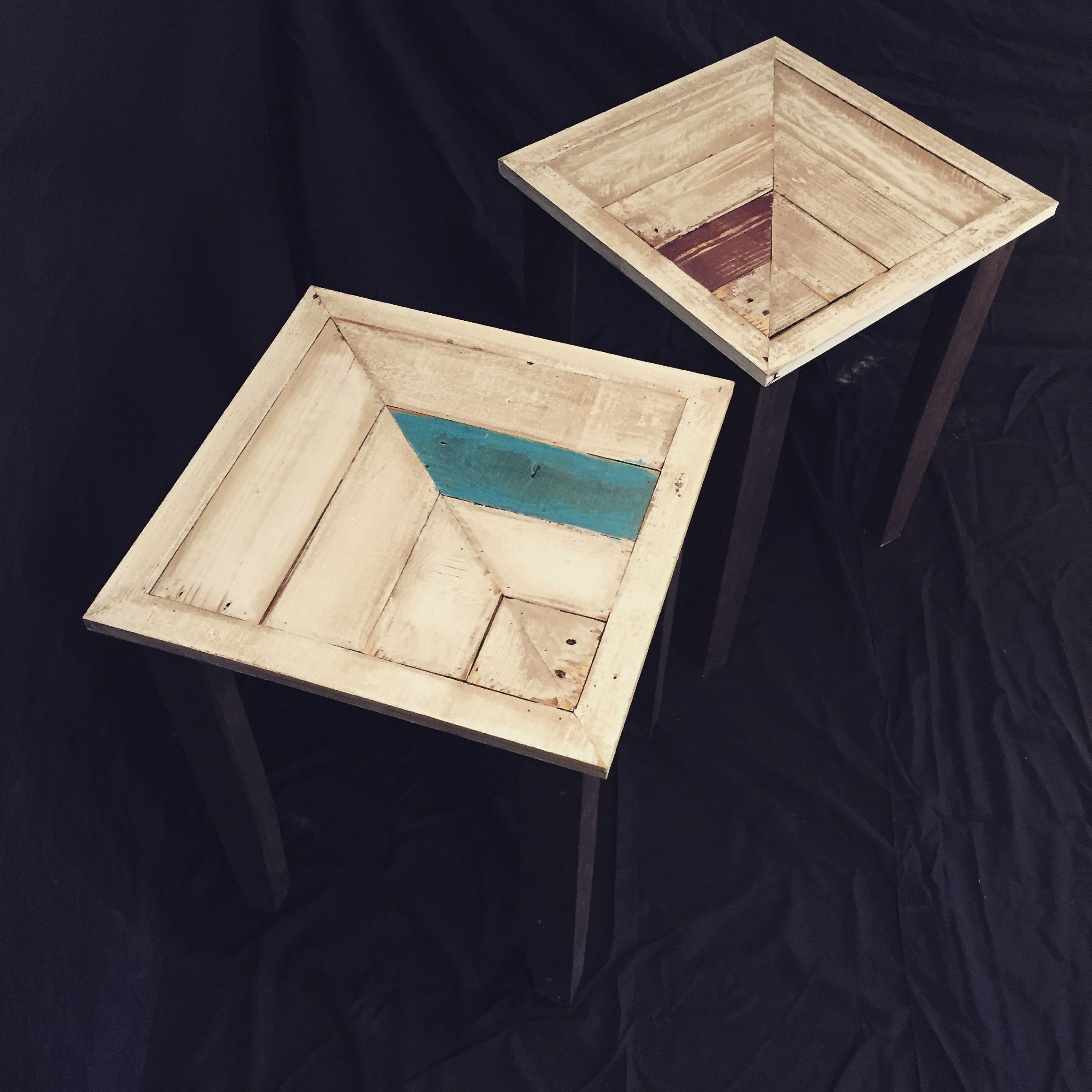 Matching End Tables from Reclaimed Pallet Wood $200 Each