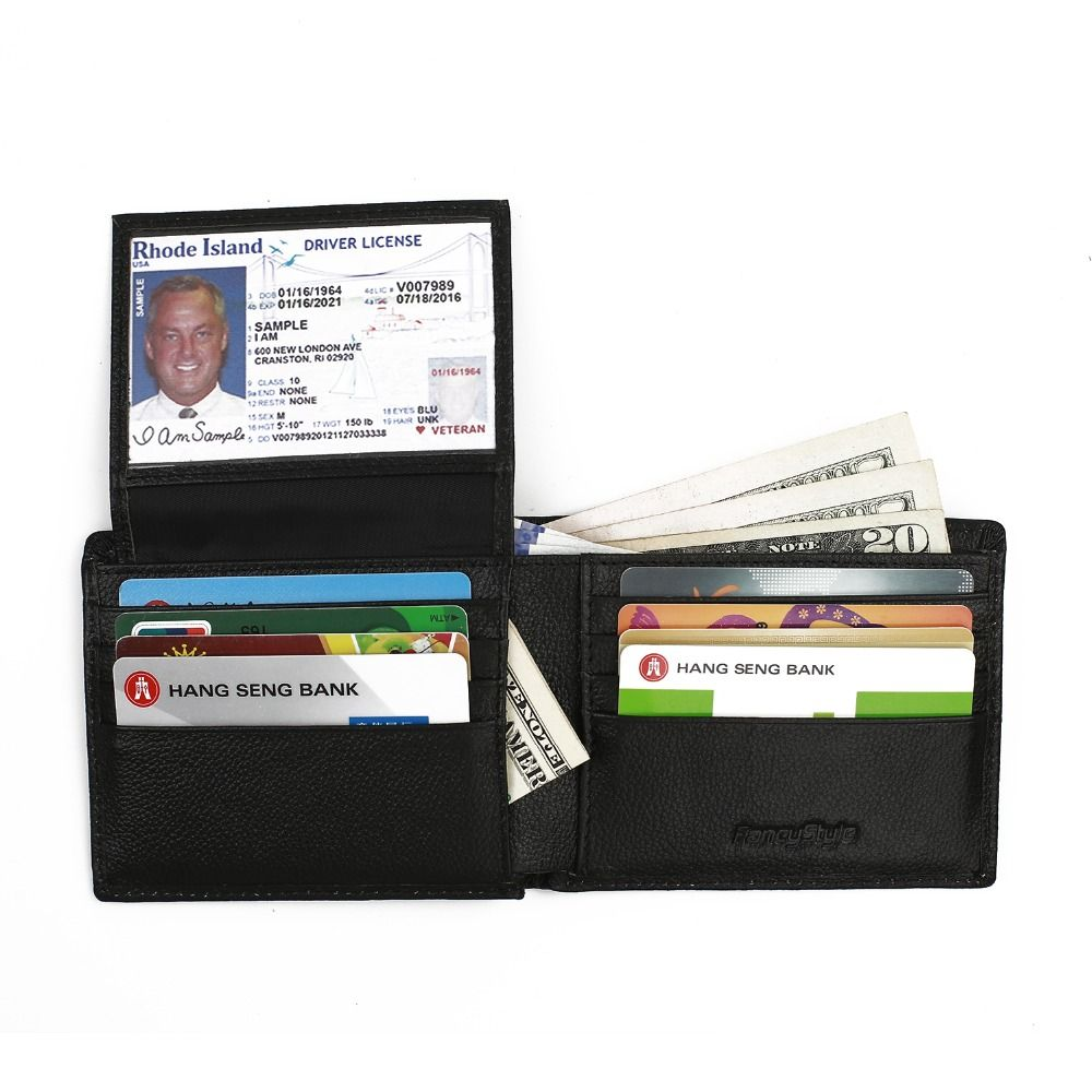 Best Minimalist Wallet 2021 AllMyWallets RFID Blocking Men's Leather Bifold Wallet with Extra
