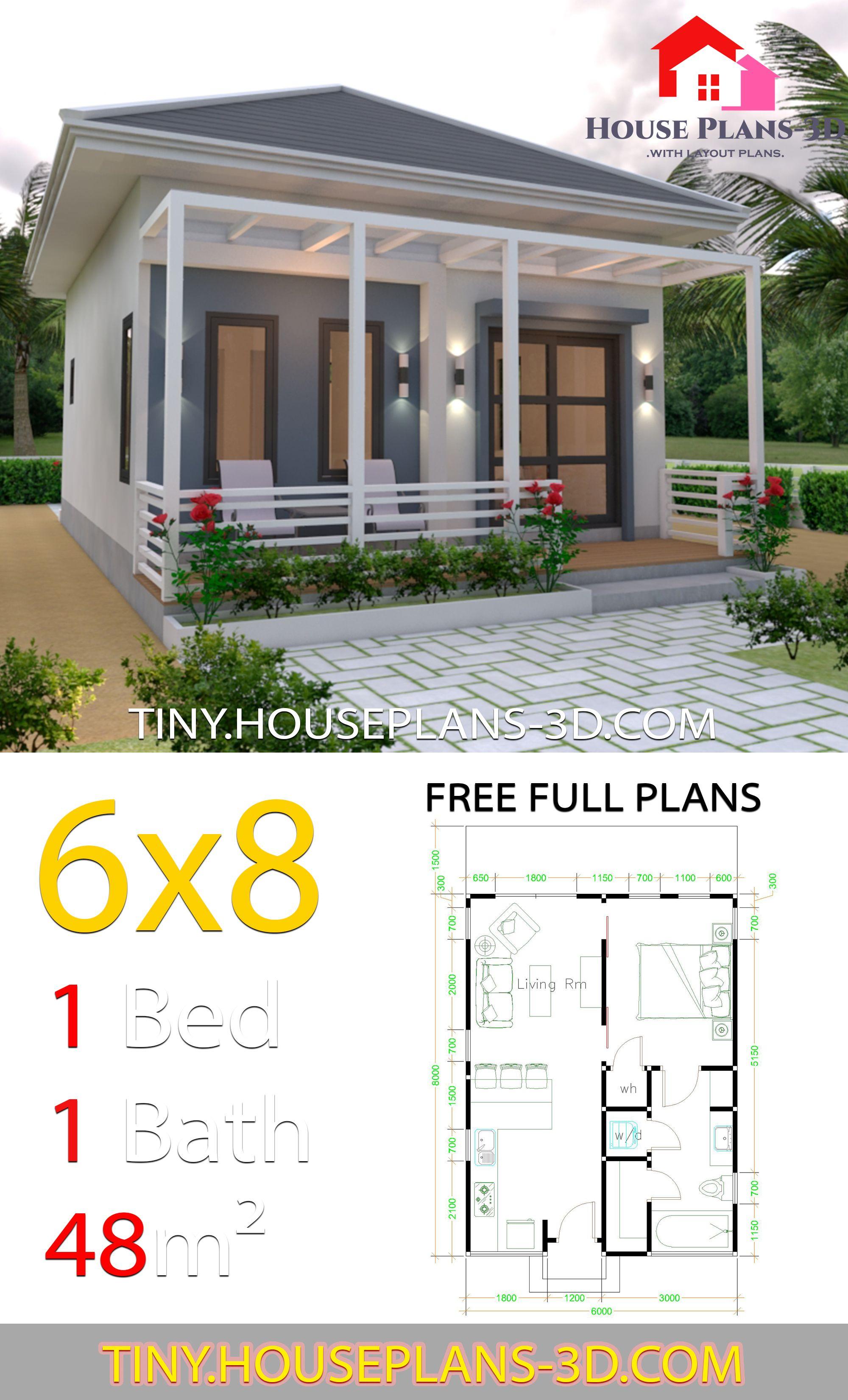Studio House Plans 6x8 Hip Roof House Plans S Tiny House Design Small House Design Plans Cottage House Plans