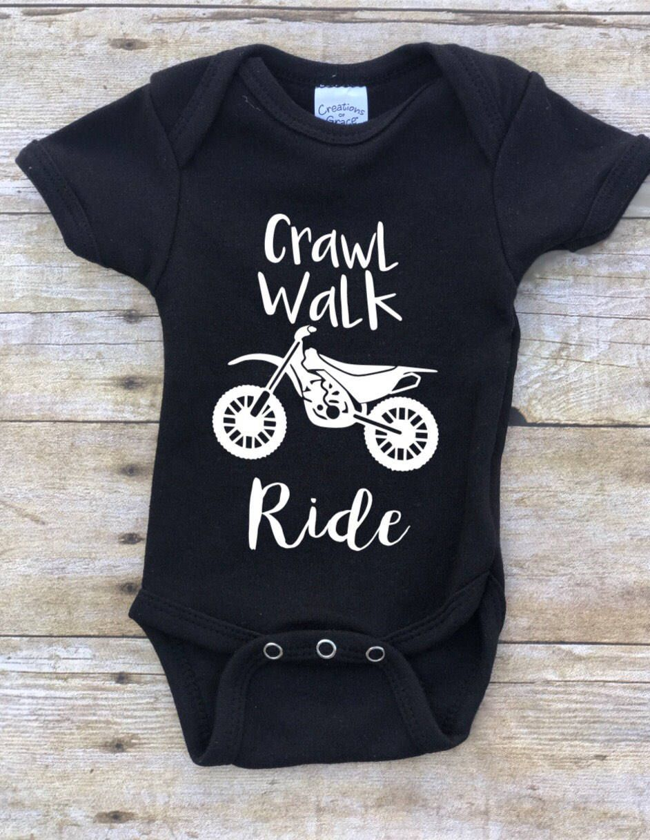 Two Polar Bear Bicycle Classical Baby Crawling Suit Lone-Sleeved Romper Bodysuit