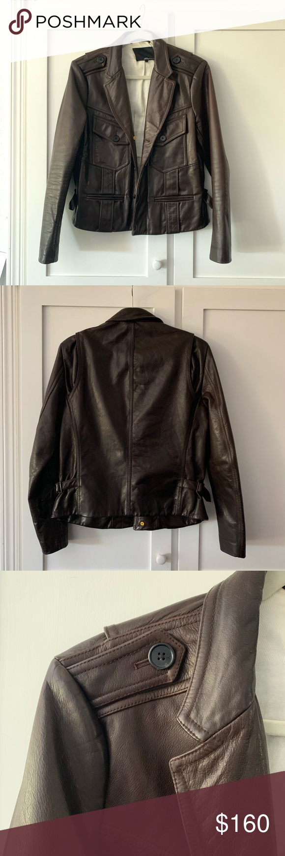 Phillip Lim Brown Leather Jacket Brown Leather Jacket Leather Jacket Clothes Design [ 1740 x 580 Pixel ]