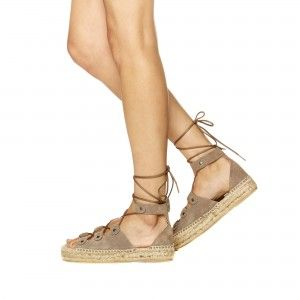05a37cb3ca0 Soludos Ghillie Lace-Up Suede Platform Sandal in Dove Grey - Soludos  Espadrilles