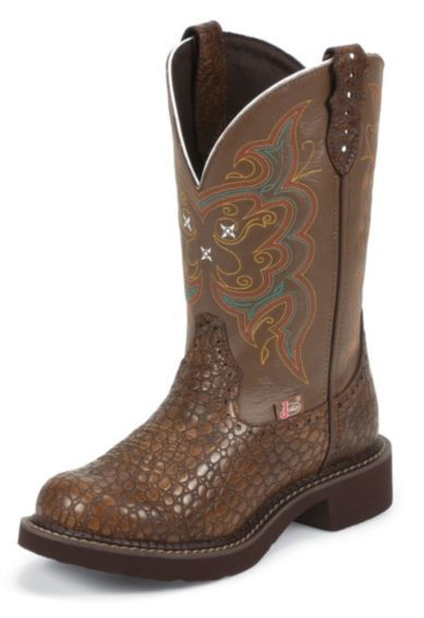 Justin Pearl Print Gypsy Boots - Round Toe - Sheplers
