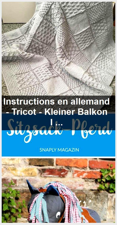 Instructions en allemand - Tricot - Kleiner Balkon Ideen