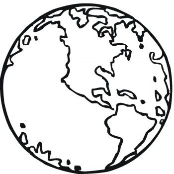 Planet Earth Coloring Page Earth Coloring Pages Earth Day