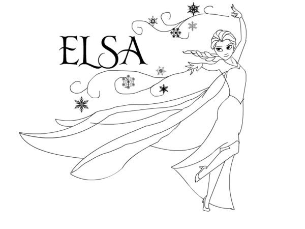 Frozen Coloring Pages Elsa Kids