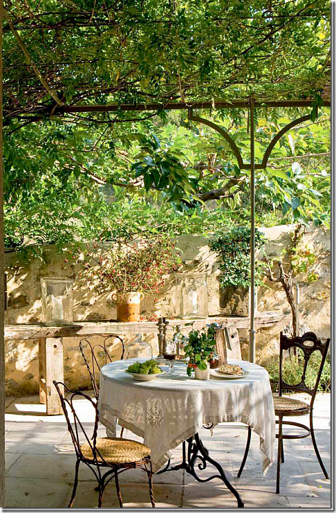 Covered terrace, al fresco dining in Provence | AMBIANCES ...