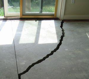 Large Floor Crack Floors Slab Foundation Concrete