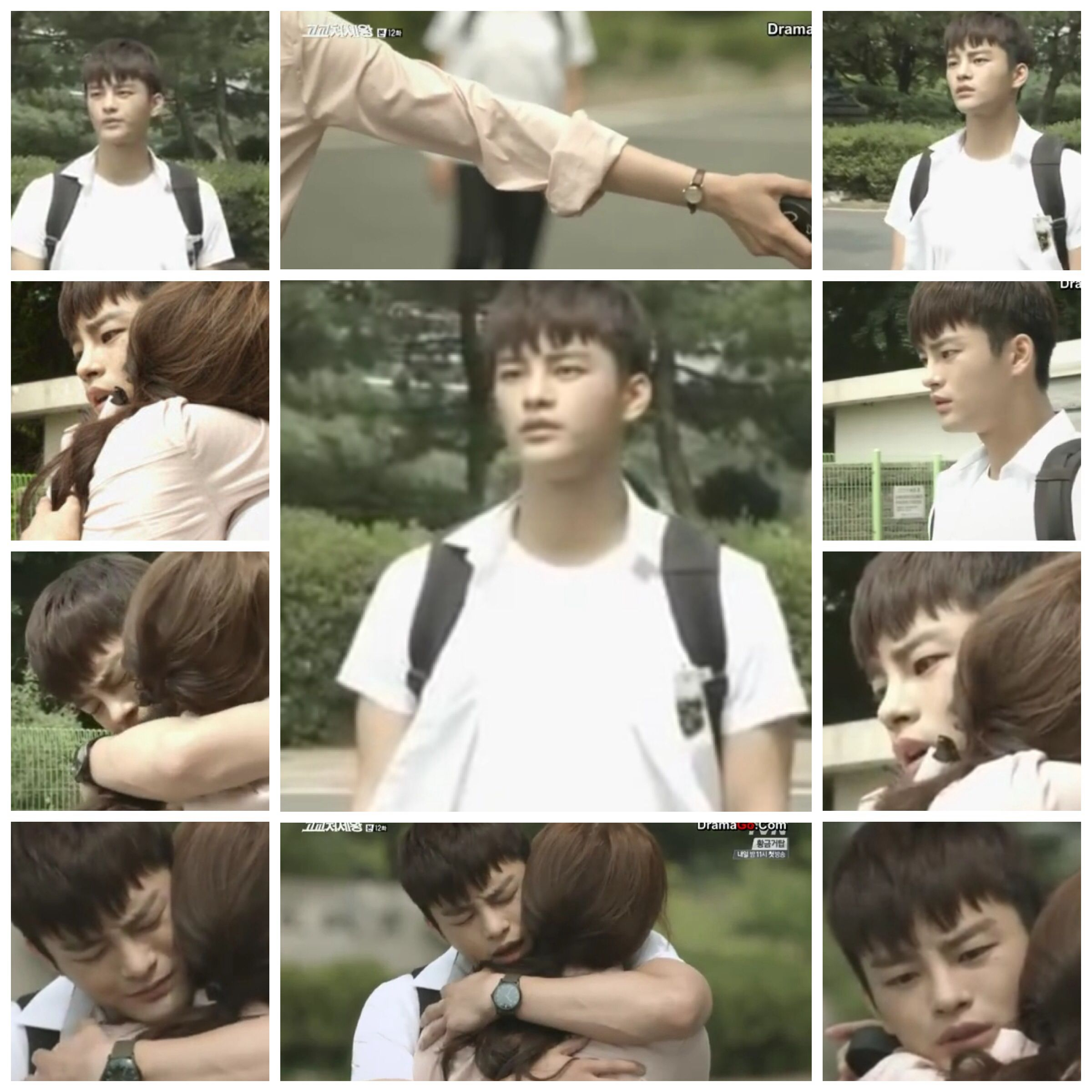 Min Suk is home.... My heart flipped several times during this scene T_T .... King of High School episode 12
