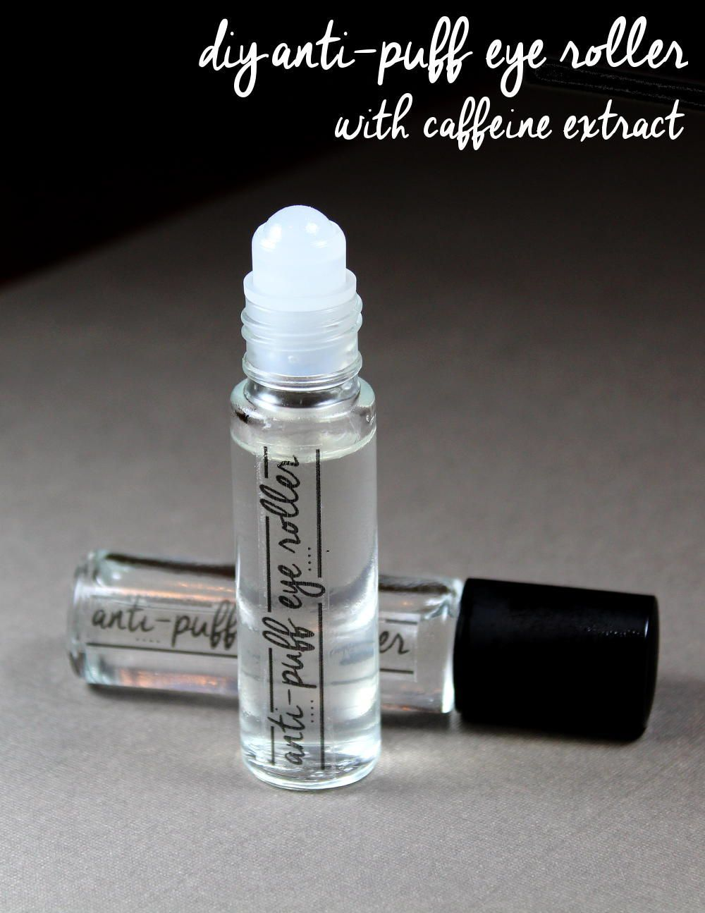 DIY AntiPuff Eye Roller for Tired, Puffy Eyes and Under
