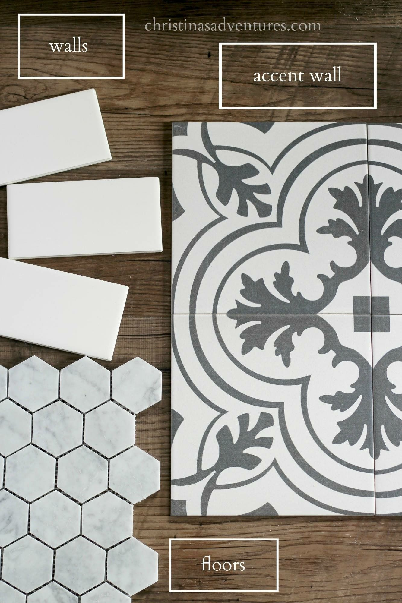 Pin by melissa benefiel on tile pinterest tile ideas the hexagon will be in the bathroom eventually where to buy affordable bathroom tile and ideas of how to implement them in your bathroom remodel great dailygadgetfo Choice Image