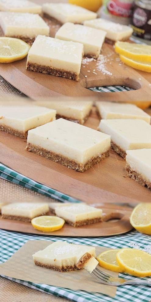 Raw Lemon Coconut Squares,