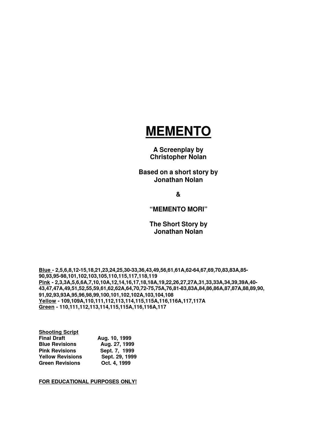 memento | cinema | pinterest | films and cinema