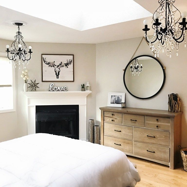 Rustic Glam Bedroom Before & After images