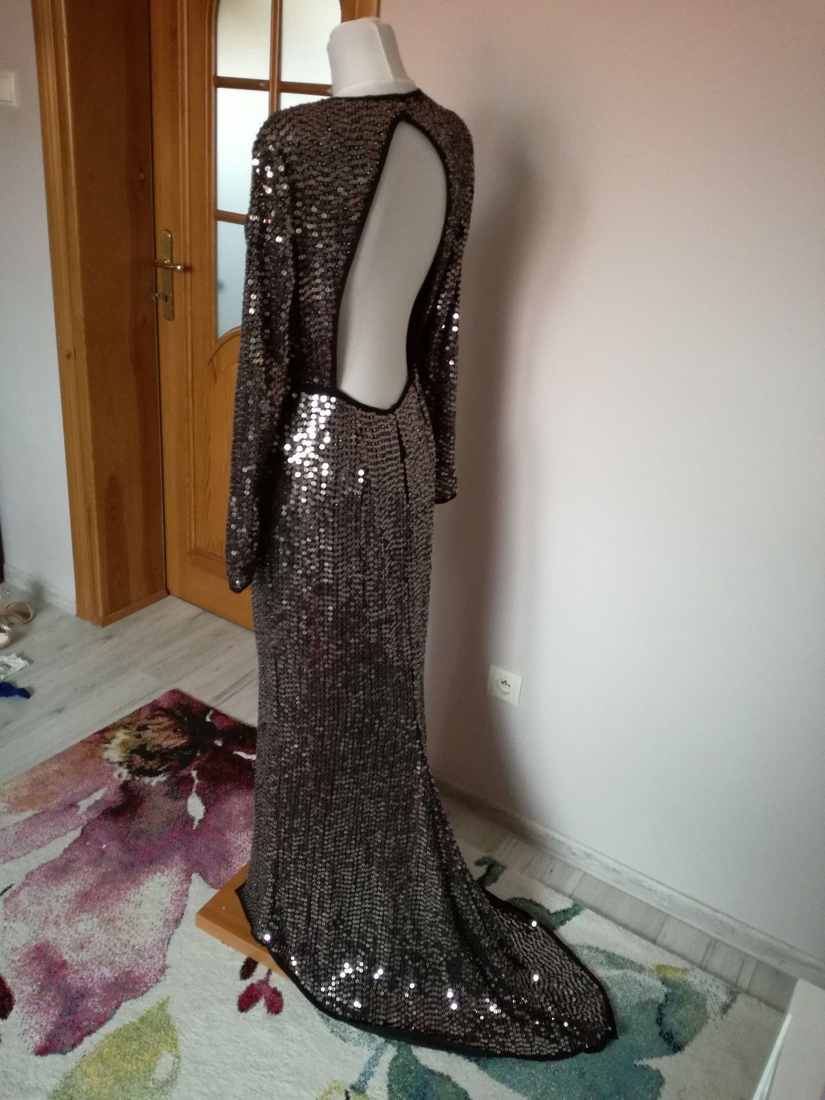Cool great asos red carpet embellished sequin maxi dress with high