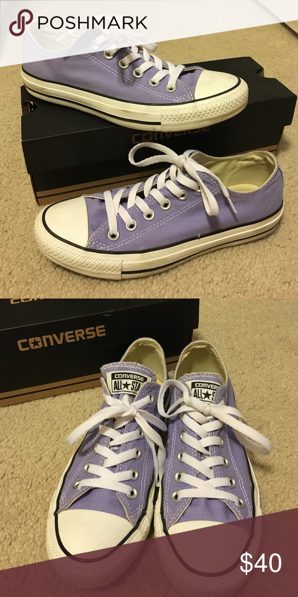 d8c875b2d51 Converse Chuck Taylor All Star Sneakers Lilac Chuck Taylor Converse Sneakers.  Only worn a few times and in PERFECT condition! Converse Shoes Sneakers