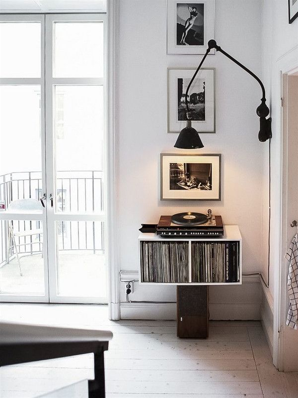 how to beautifully store your records | Orange bathrooms, Record ...