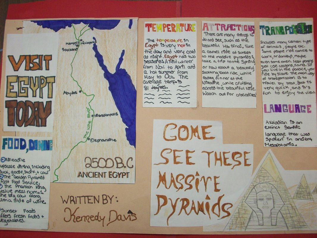 Ancient Egypt Travel Brochure Project BROCHURES Pinterest