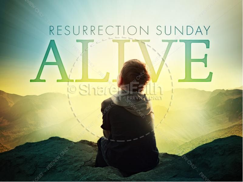 Resurrection Sunday Alive Easter Graphics Powerpoint  Graphics