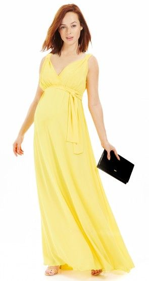 Robe jaune femme enceinte