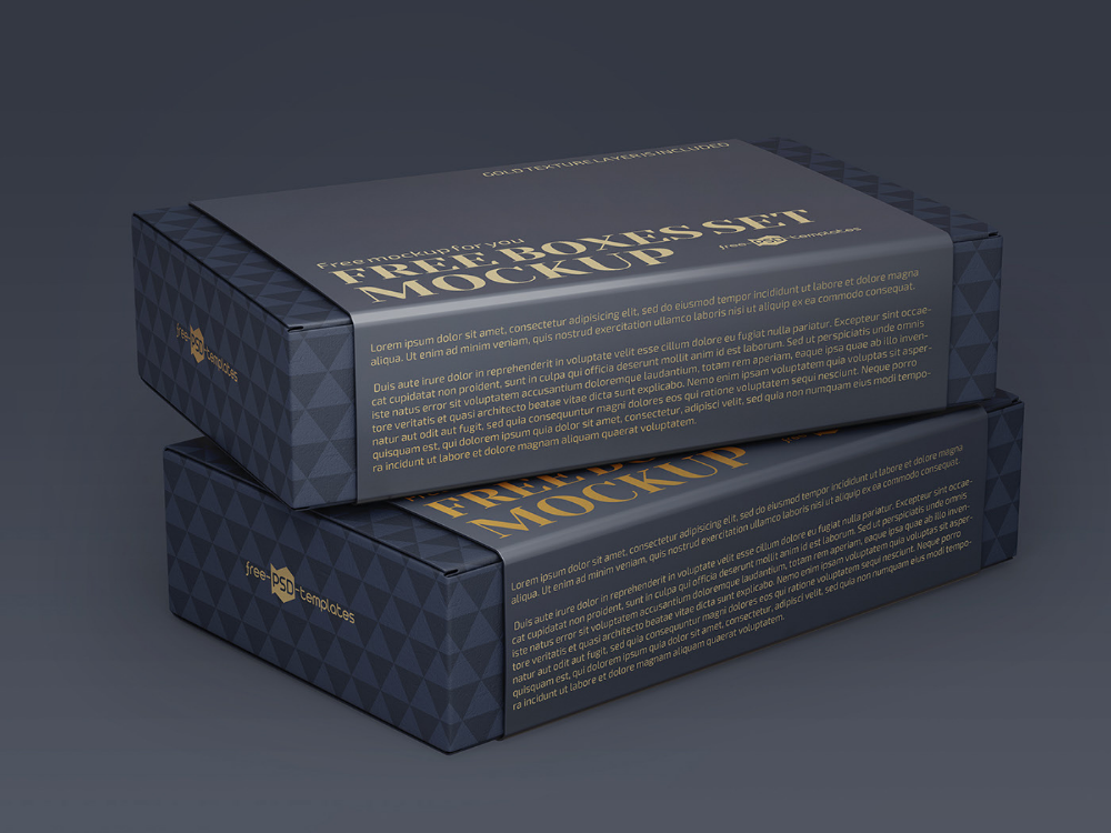 Download Free Boxes Mockup Templates on Behance in 2020 | Free ...