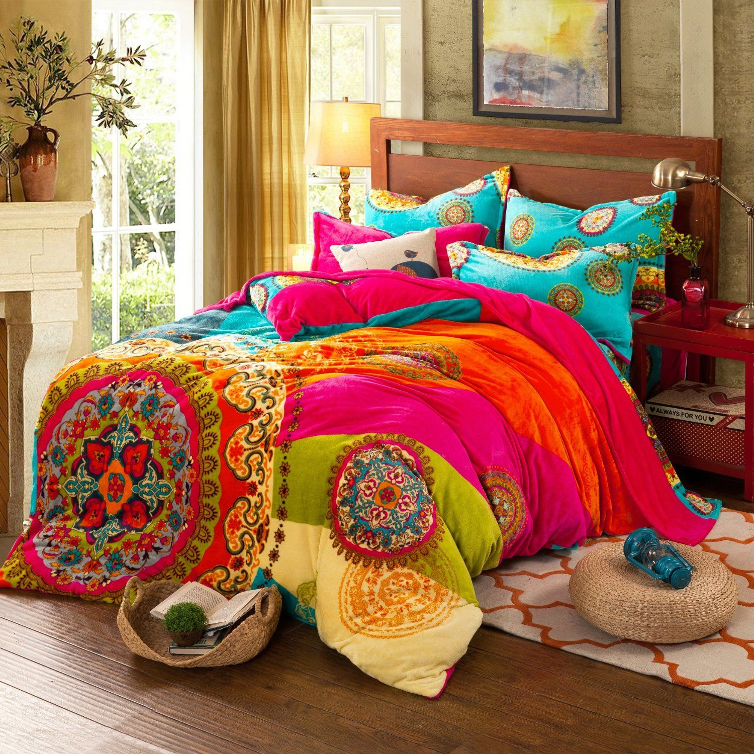 Best Amazon Com Paisley Bohemian Bedding For *D*Lt T96 Boho 400 x 300