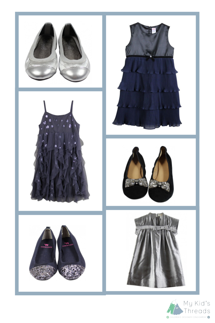 Classic grey and black wedding styles for kids featuring crewcuts