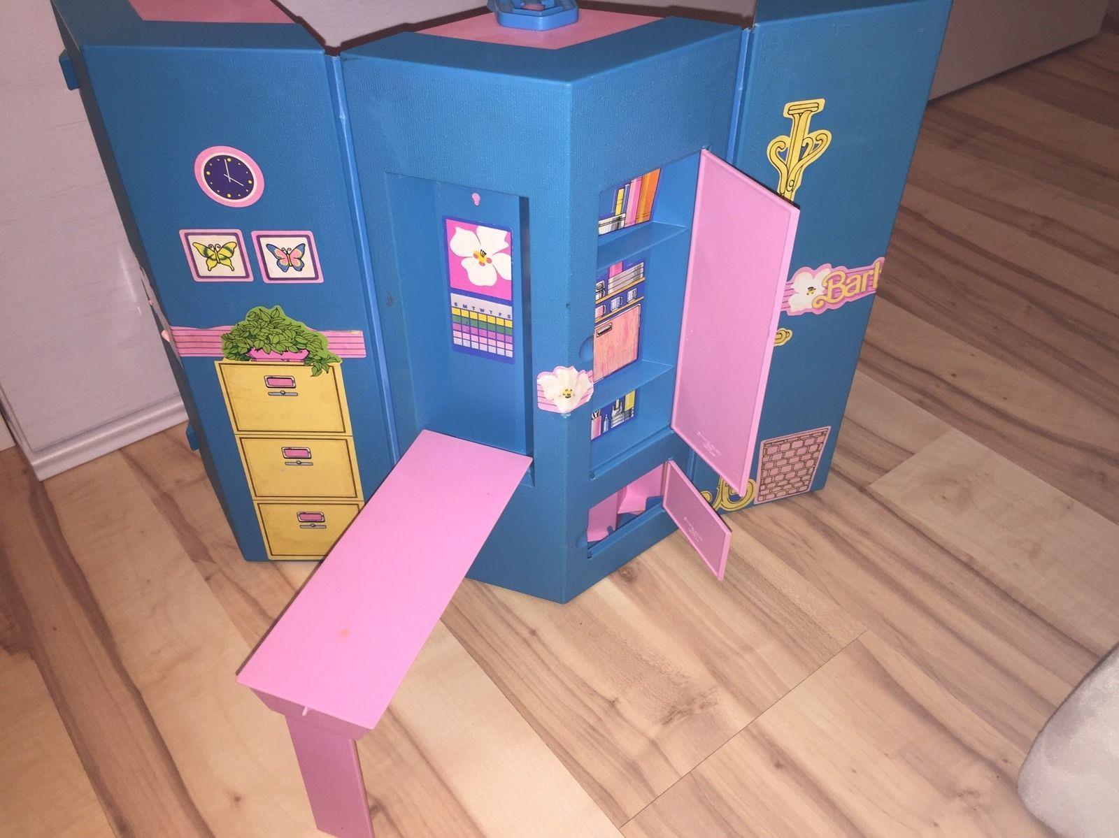 Wohnset Küche | Mattel Barbie Buro Und Wohn Set 80er Jahre Wohnkoffer Day To Night