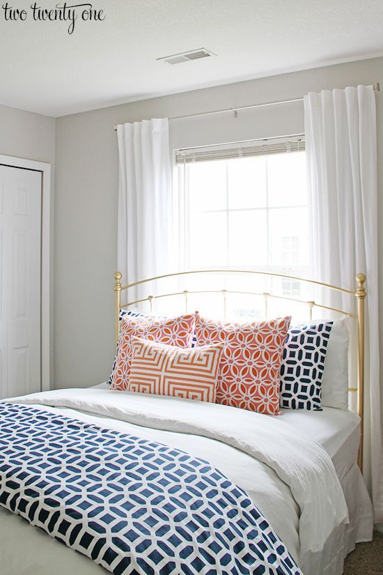 17 Best Ideas About Navy Curtains Bedroom On Pinterest | Navy Blue .