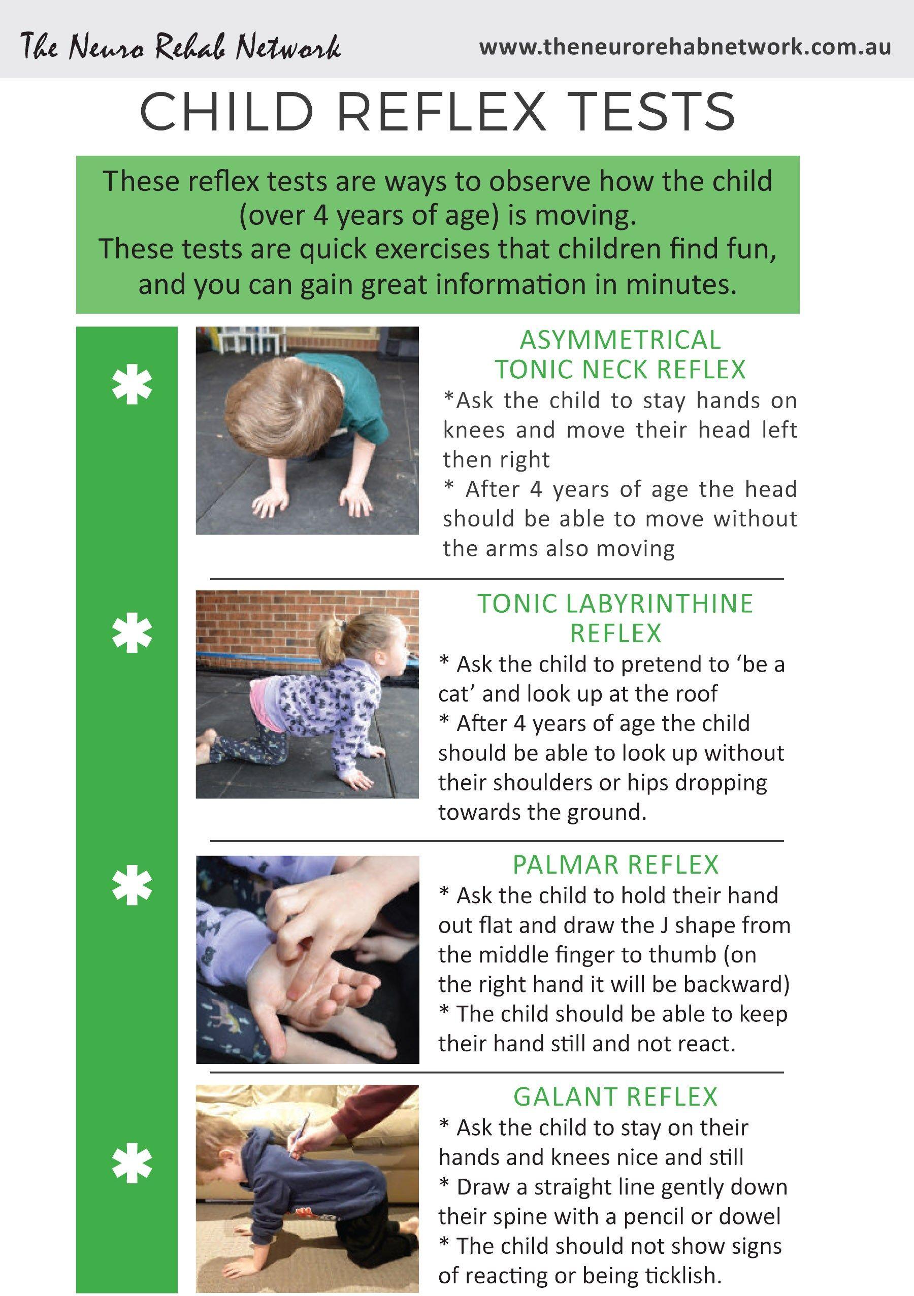 child motor skill development fine and gross motor activities infantile reflexes