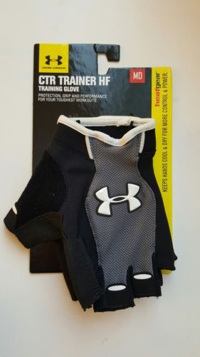Gloves Straps and Hooks 179820: Brand New! Under Armour Ctr Trainer Hf Training Gloves Mens Size M BUY IT NOW ONLY: $34.9