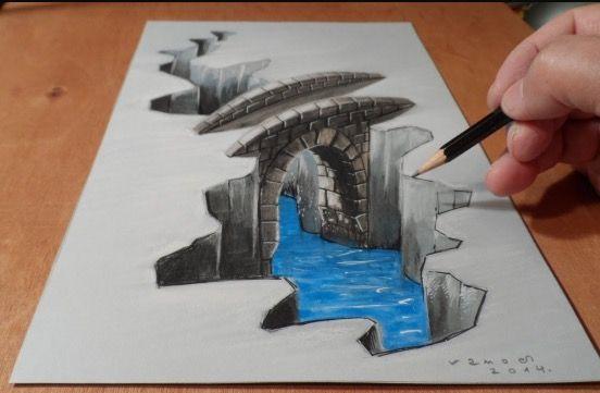 Pin By Sebastian Castillo On 3d Drawings 3d Art Drawing Illusion Drawings 3d Drawings