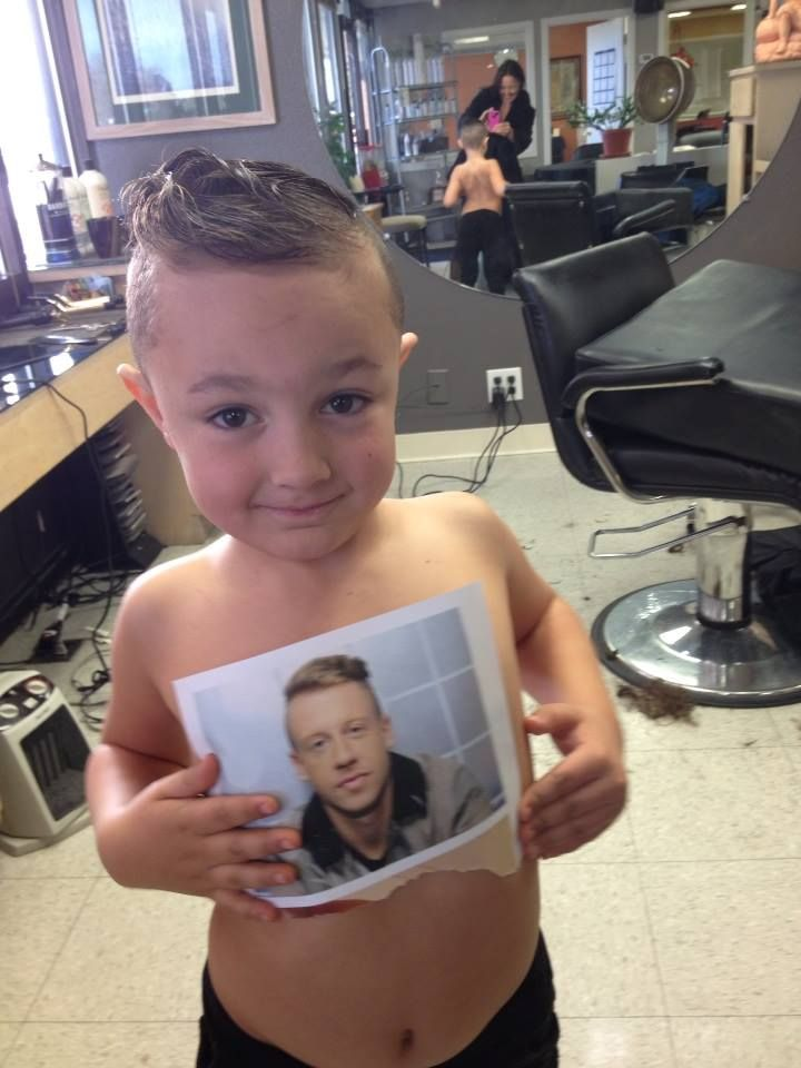 baby's first haircut. he insisted on the macklemore. I ...