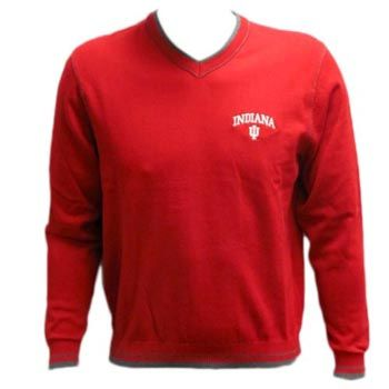 111ce3ef2e Cutter  amp  Buck® Indiana IU V-Neck Sweater - Red Red Sweaters