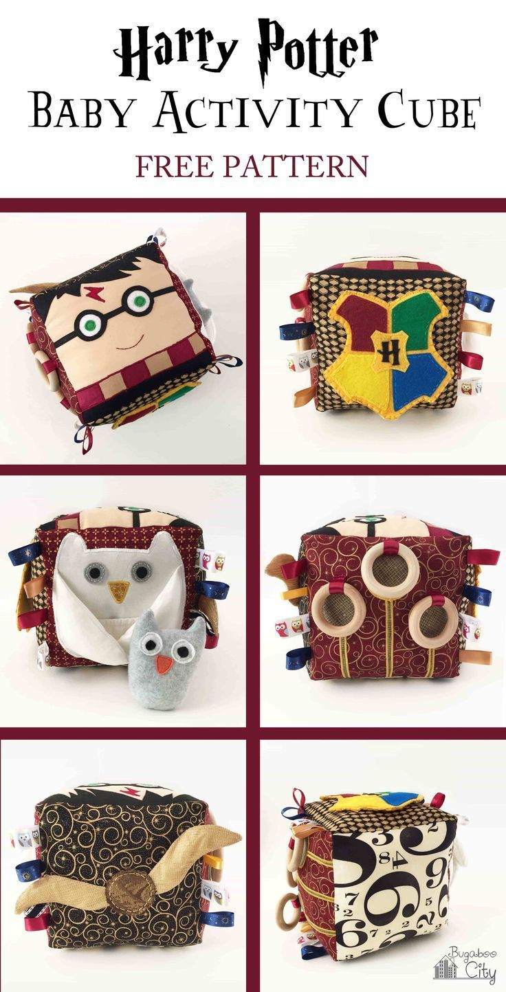 Fabric Crafts Harry Potter Fabric Activity Cube with FREE Patterns - The Art of ...