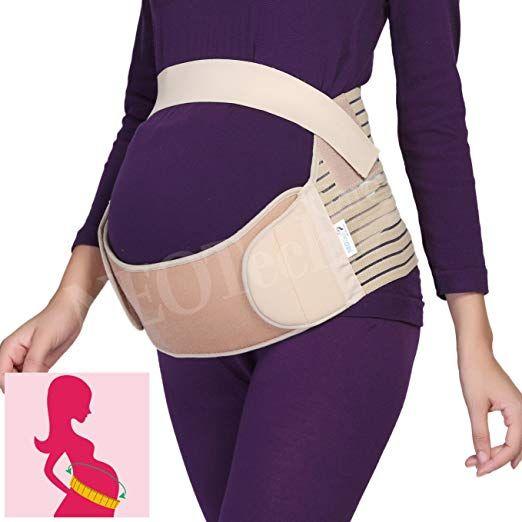 NEW Maternity Belt Pregnancy Support Waist Back Abdomen Band Belly Brace Size L