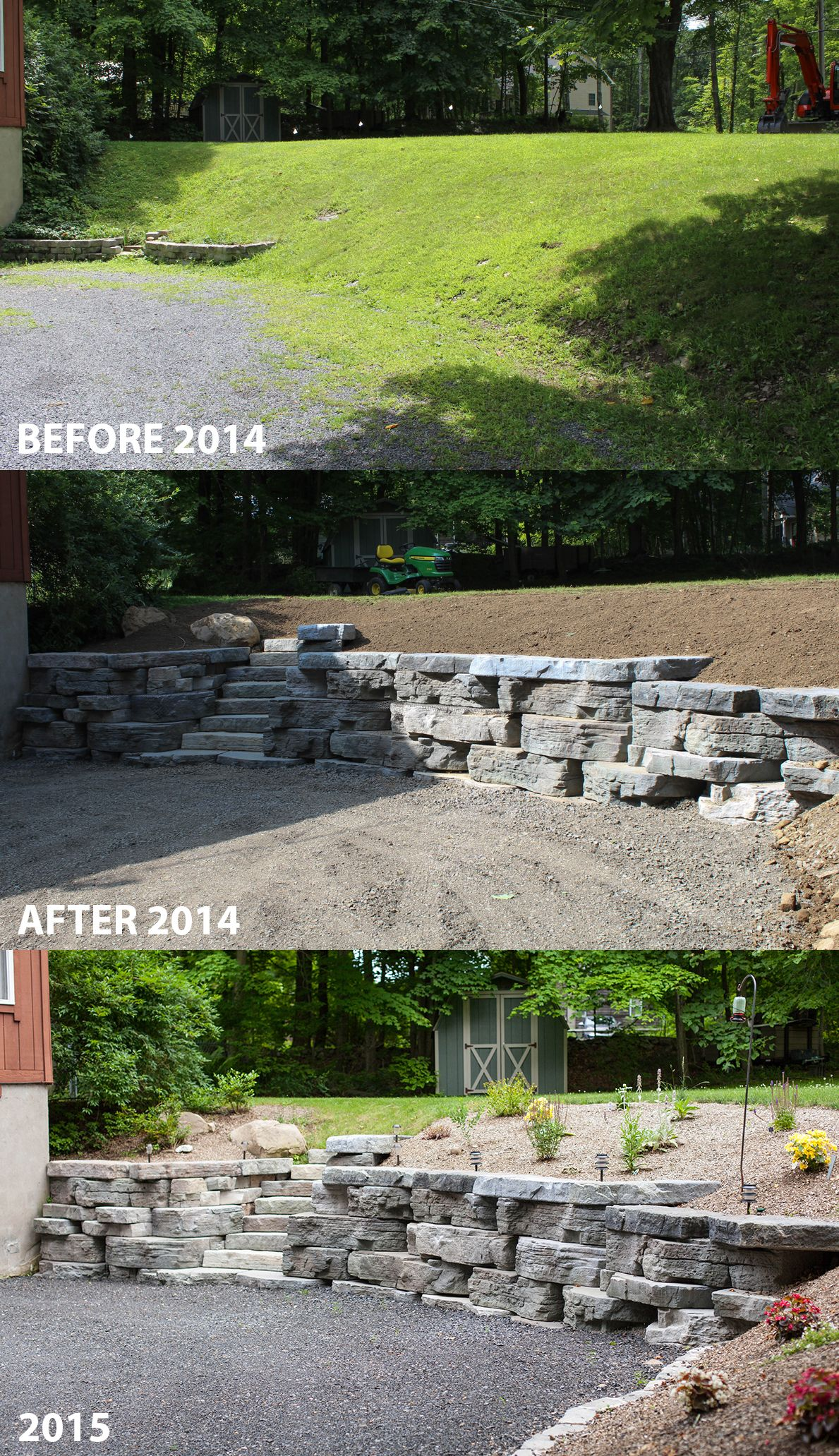 -Retaining Wall Ideas- A Rosetta Outcropping Retaining Wall, Installed 2014