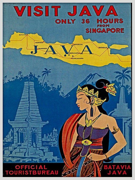 Indonesia Travel Poster Java Art Home Decor Print (TR73