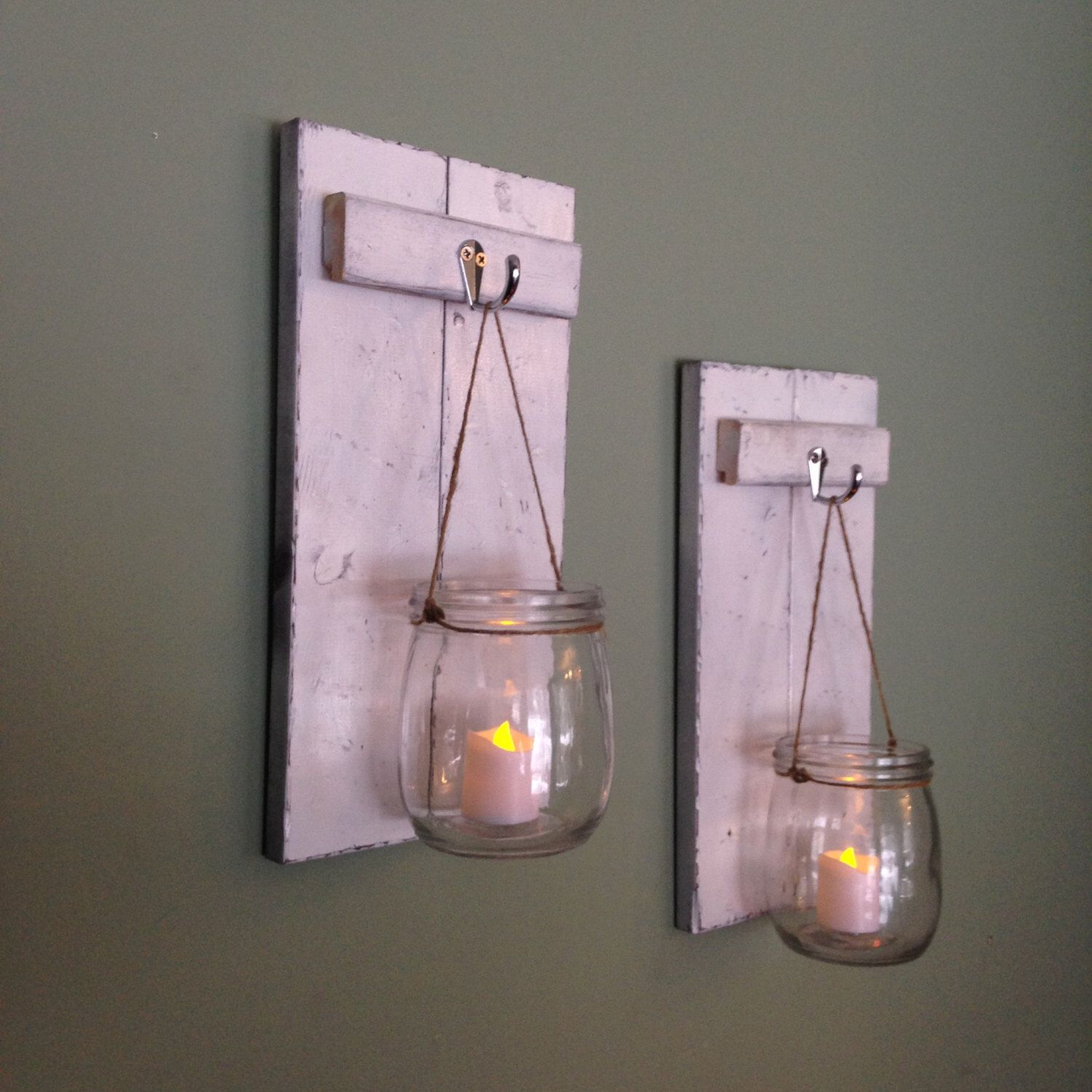 Wooden candle holder mason jar wall sconce rustic wall decor wooden candle holder mason jar wall sconce rustic wall decor cabin decor amipublicfo Image collections