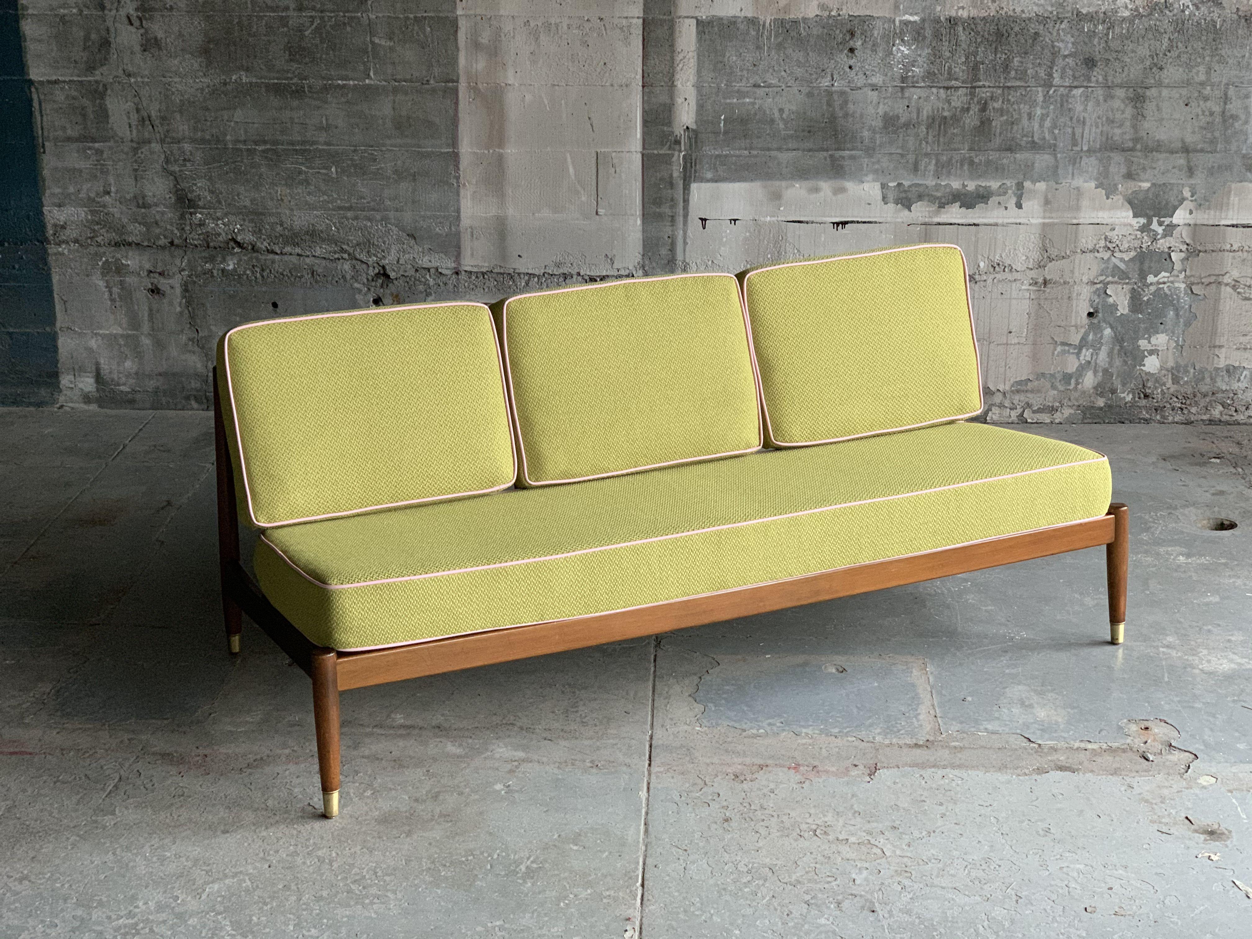 Dux Swedish Mid Century Armless Sofa In 2020 Mid Century Danish Furniture Armless Sofa Mid Century Sofa