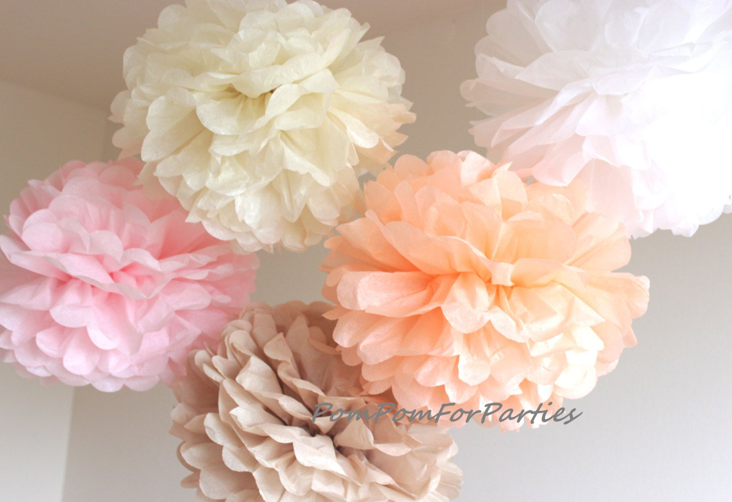 Wedding decorations paper flowers  Set of  High Quality Tissue Paper Pom Poms wedding  birthday