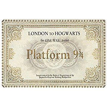 Custom Door Mat Rug Harry Potter Platform Ticket Machine Washable Doormat Gate Pad Rug 23 6 L X 15 7 W Harry Potter Platform Custom Harry Potter Hogwarts