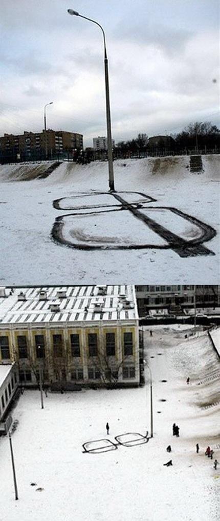 Sneeuwbril - street lamp Street art