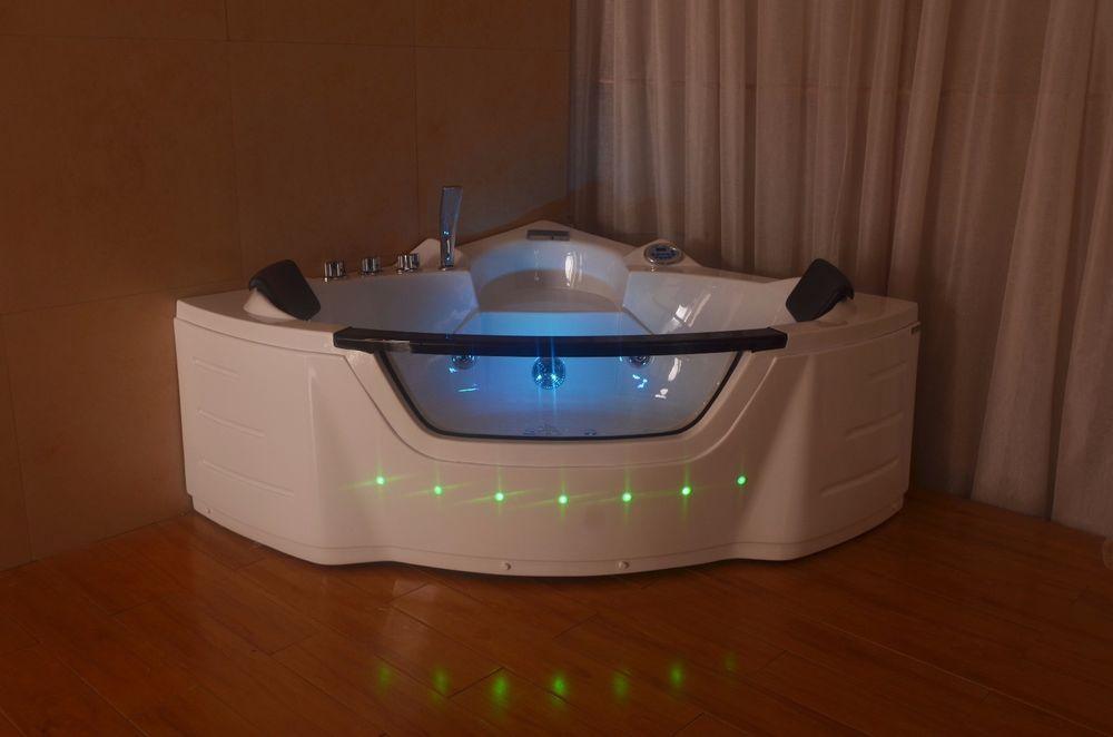 1350mm 20 Jet Whirlpool Bath Shower Air Spa Jacuzzis Massage Corner ...