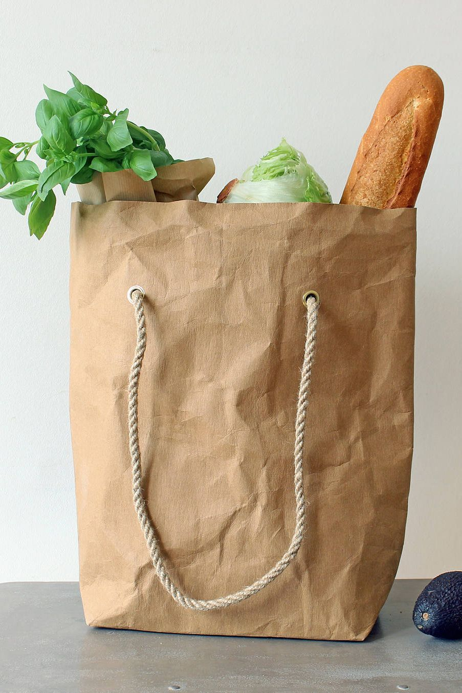d1361cfa45a5 Grocery bag, Paper tote bag, washable paper bag, brown kraft paper ...