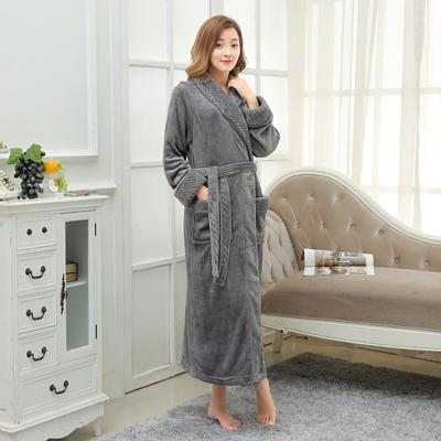 d91cc2f609 On Sale Super Soft Extra Long Men Women Warm Coral Flannel Bath Robe Mens  Kimono Bathrobe Male Dressing Gown Lovers Winter Robes