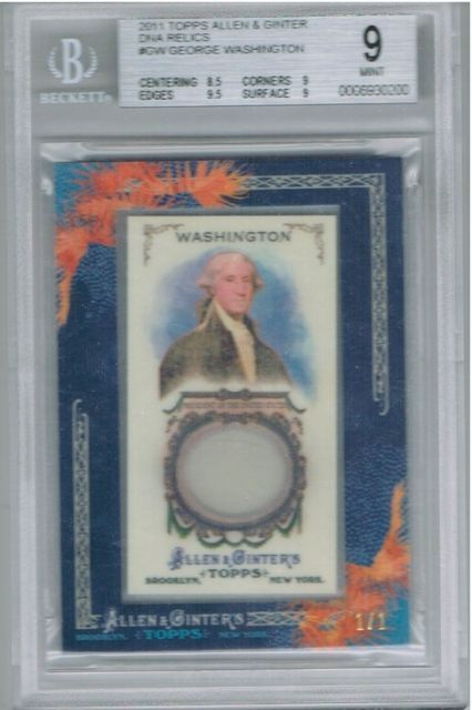 George Washington - DNA relic card allen and ginter