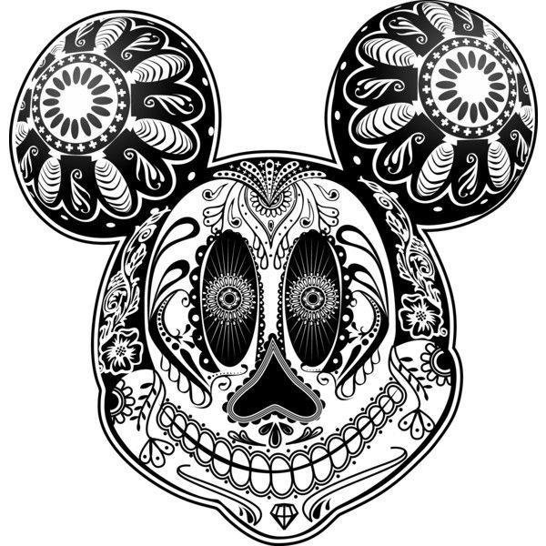 Mickey sugar skull google search sugar skulls for Sugar skull mandala coloring pages