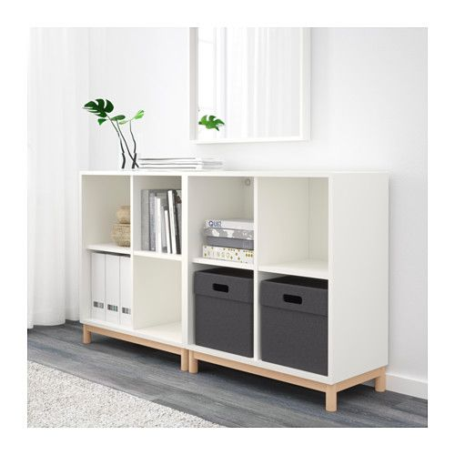 eket cabinet combination with legs white storage ikea. Black Bedroom Furniture Sets. Home Design Ideas